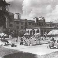 Tourists at the Mayfair Inn Swimming Pool