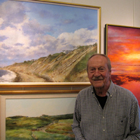 Hal McIntosh at Exhibit at the Truro Public Library