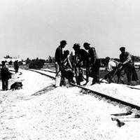 Florida East Coast Railway Workers in Fort Pierce, 1947