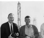 Apollo 13 Crew with Launch Vehicle