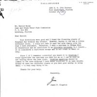 "Letter from James ""Jim"" P. Clugston to Harold L. Moody (October 18,1961)"