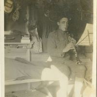 Charles Ernest Gormley Playing the Clarinet During World War I