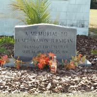 Headstone for Aaron David Jernigan at Lake Hill Cemetery