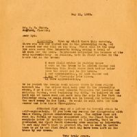 Letter from Joshua Coffin Chase to Sydney Octavius Chase (May 11, 1929)