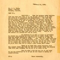 Letter from Joshua Coffin Chase to Sydney Octavius Chase (February 24, 1928)
