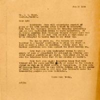 Letter from Joshua Coffin Chase to Sydney Octavius Chase (January 18, 1924)