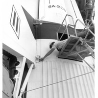 Skylab 4 Saturn IB Launch Vehicle Inspection at Launch Pad 39B