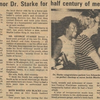Sanford to Honor Dr. Starke for Half Century of Medical Service