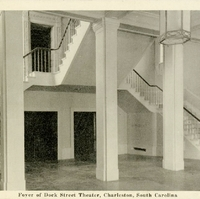 Foyer of Dock Street Theatre Postcard