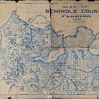 Map of Seminole County, Florida, 1928
