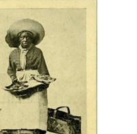 An Old Auntie Selling Groun-Nut Cakes Postcard