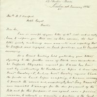 Letter from A. W. Macfarlane to Henry Shelton Sanford (January 20, 1885)
