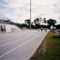 Special Olympics Track Practice at University High School, 1998