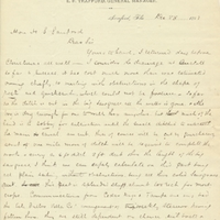 Letter from William Beardall to Henry Shelton Sanford (December 28, 1883)