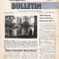 Water Management Bulletin, Vol. 1, No. 2 (December 1967-January 1968)