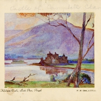 Kilchurn Castle on Loch Awe in Argyll Postcard