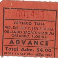 Jethro Tull Ticket Stub