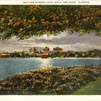 Skyline Across Lake Eola Postcard