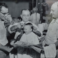 Max Yacobian Cutting Doug Crenshaw's Hair