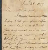 Letter from William MacKinnon to Henry Shelton Sanford (June 26, 1879)