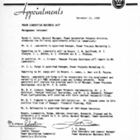 Memorandum from Romano Salvatori and Frank Bakos (November 20, 1990)