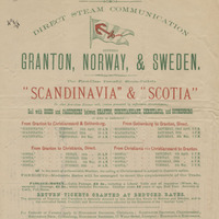 Anchor Line Direct Steam Communication Between Granton, Norway, and Sweden