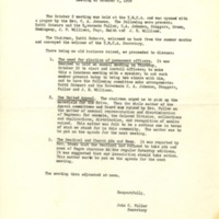 Minutes of Monthly Meeting, October 2, 1958