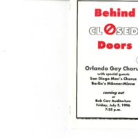Behind Closed Doors, July 5, 1996