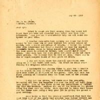 Letter from Joshua Coffin Chase to Sydney Octavius Chase (May 4, 1927)