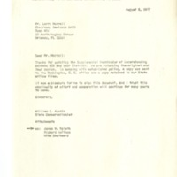 Letter to Larry Morrell of the Seminole Soil and Water Conservation District from William E. Austin,1977