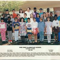 Pine Crest Elementary Fourth Grade Class, 1992-1993