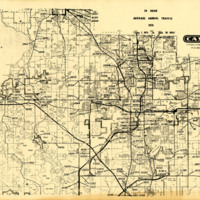 24 Hour Average Annual Traffic Map for Orange County, 1976
