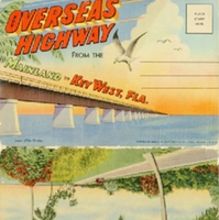 Overseas Highway from the Mainland to Key West Postcard Booklet