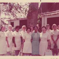 Marie Jones Francis with Nurses at the Jones-Francis Maternity Hall