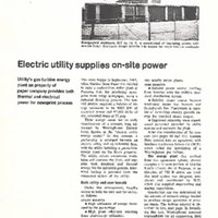 Electric Utility Supplies On-Site Power