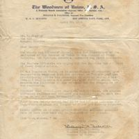 Letter from William H. Falconer to Michael Gladden, Jr. (April 29, 1931)