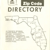 a zip code directory for the central florida area this directory was created in june of 1984 and published in november of that same year by the us postal