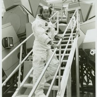 Astronaut Michael Collins During Apollo 11 Training