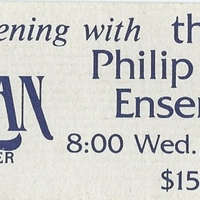 Philip Glass Ensemble Ticket Stub