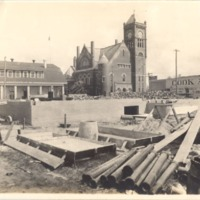 Construction of the Downtown Orlando Post Office, March 1917