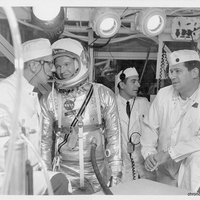 Günter F. Wendt and Astronaut Gordon Cooper at Cape Canaveral Air Force Station Launch Complex 14