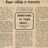 Something to Think About: Rape Ruling a Travesty