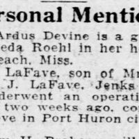 Times Herald, Personal Mention for Bryce A. Lafave.jpg