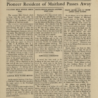The Maitland News, Vol. 01, No. 13, July 31, 1926