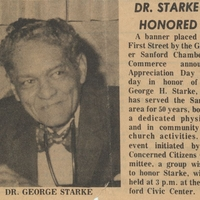 Dr. Starke Honored