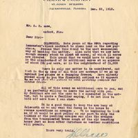 Letter from Letter from Joshua Coffin Chase to Sydney Octavius Chase (December 22, 1913)