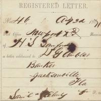 Register of Letter from Henry Shelton Sanford to D. G. Ambler (August 2, 1871)