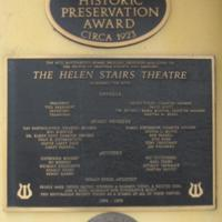 Historic Preservation Award for the Helen Stairs Theatre