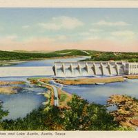 Tom Miller Dam and Lake Austin Postcard