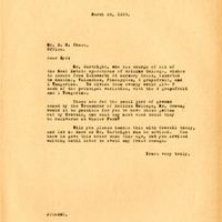Letter from Joshua Chase to brother Sydney Chase (March 29, 1934)